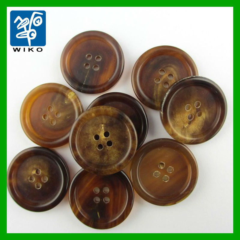 4 Hole Classic Brown Horn Button For Suit - Buy Brown Horn Button ...