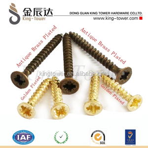 brass gold plated decorative wood self tapping screws