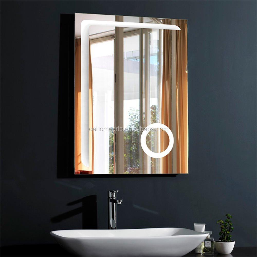 2016 high fashion verlichte badkamer spiegel voor moderne hotel doucheruimte bad spiegels for Moderne doucheruimte
