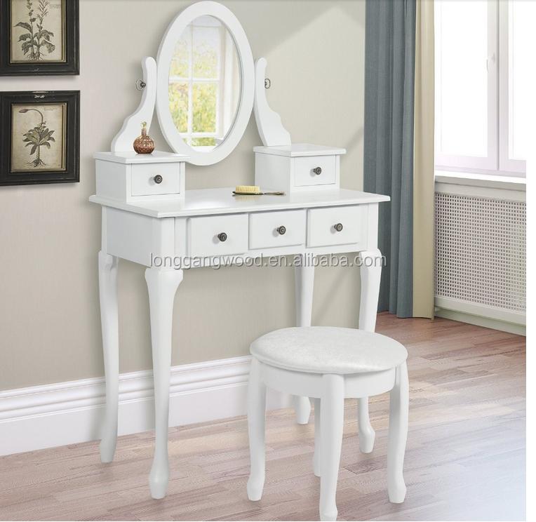madera moderno tocador maquillaje tocador con espejo y taburete color blanco y estilo conciso diseos para