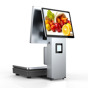 Hot sale 15kg chinese electronic weighing scales with pos terminal for  fruit shop