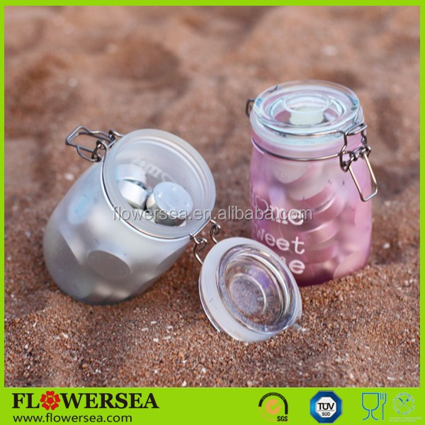 Flowersea 2017 new home decor wedding centerpieces Mother's day hand painted glass candle jars
