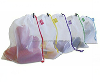Handled Style reusable mesh produce bags