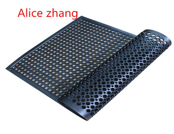 Waterproof Rubber Mats Deck Anti Skid Rubber Mats Kitchen Colorful Drainage Rubber  Mats