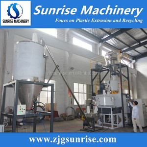 dust free full automatic upvc pvc powder mixing compounding machine system