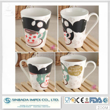 A grade ceramic coffee mug wholesale porcelain material ceramic color changing mug