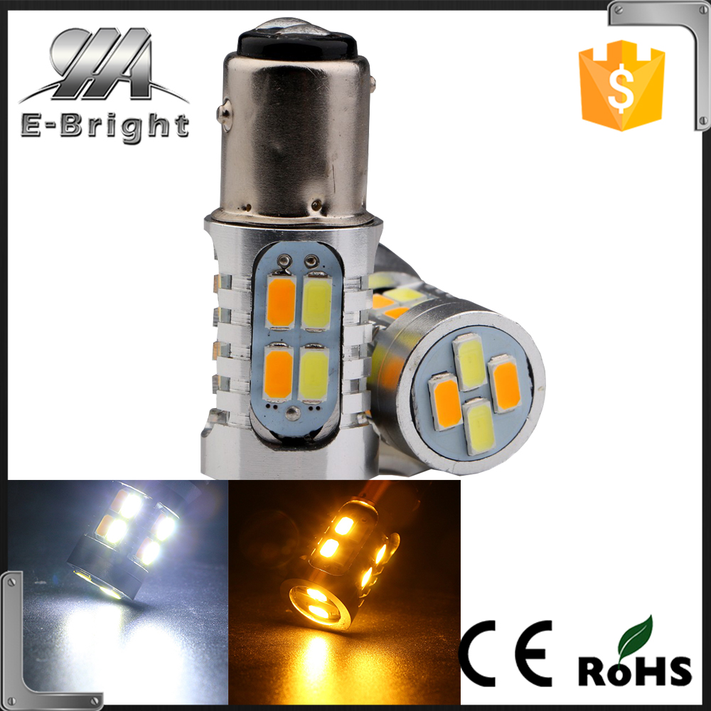 <strong>Auto</strong> 60-SMD White/Amber Dual Color 1157 7528 2357 Switchback LED Bulbs For Turn Signal Parking Lights