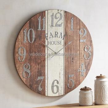 Oversize Verzinktem Metall Zahlen Und Das Wort Rustikalen Stil Uhr
