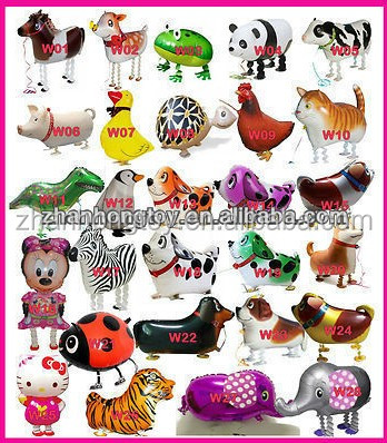 wholesale many different-shaped foil mylar walking pet balloon