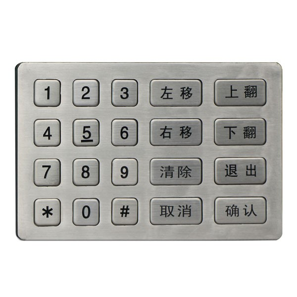 Metal numeric colorful keypad keypad immobilizer keypad