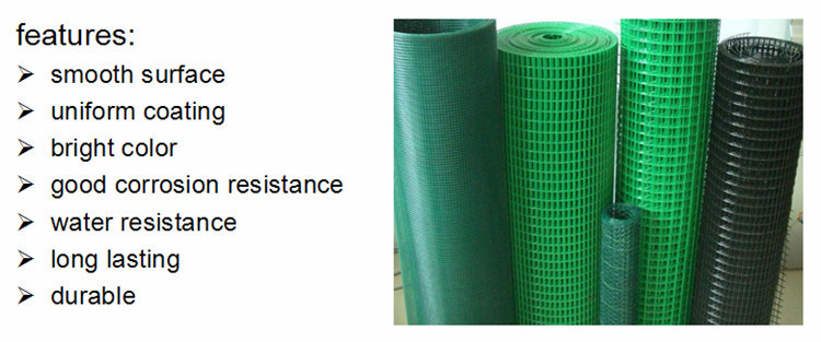 2x4 Mesh 14 Gauge Green Vinyl Coated Welded Wire Mesh Fence 36 ...