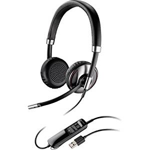 "Plantronics, Inc - Plantronics Blackwire C720-M Headset - Stereo - Usb - Wired/Wireless - Bluetooth - Over-The-Head - Binaural - Supra-Aural - Noise Cancelling Microphone ""Product Category: Audio Electronics/Headsets/Earsets"""