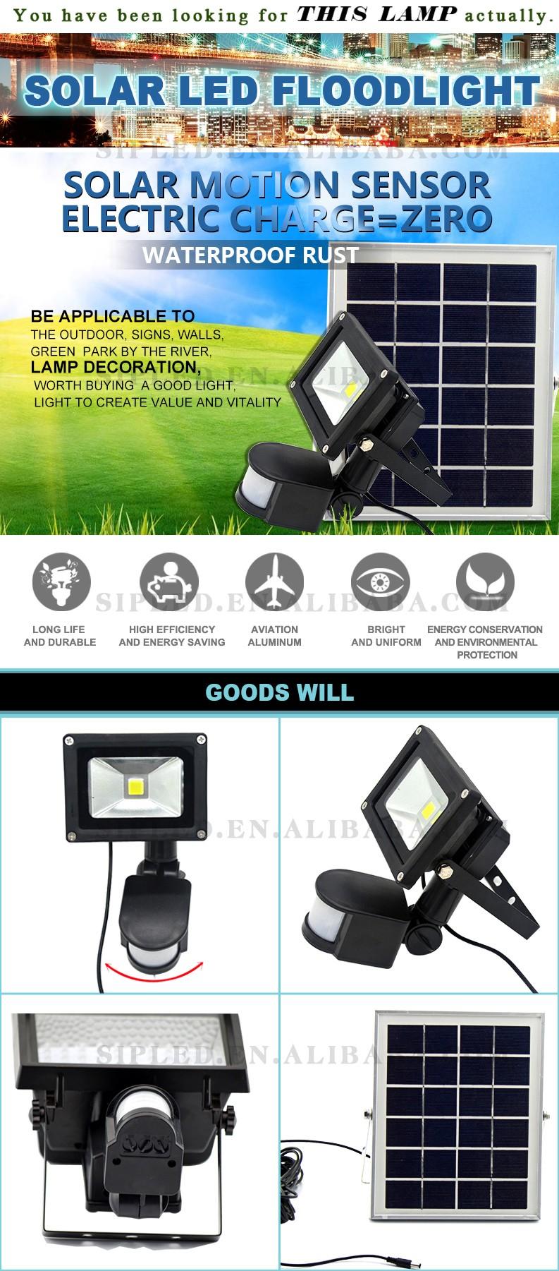 Wholesale outdoor solar motion sensor 20w led cob flood light ...