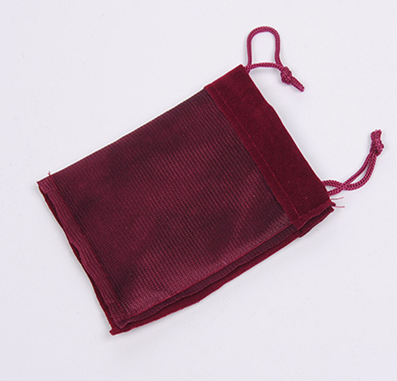 Promotion small velvet drawstring gift bag