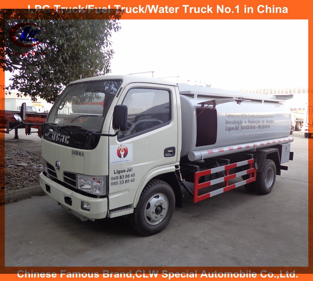 Sino fuel tanker truck used and brand new 5cbm fuel tank rhd lhd 5000L mobile dongfeng fuel filling truck