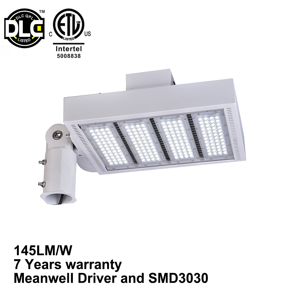 UL DLC Meanwell driver 480V 200w shoebox led parking lot lighting retrofit 1000w metal halide led replacement