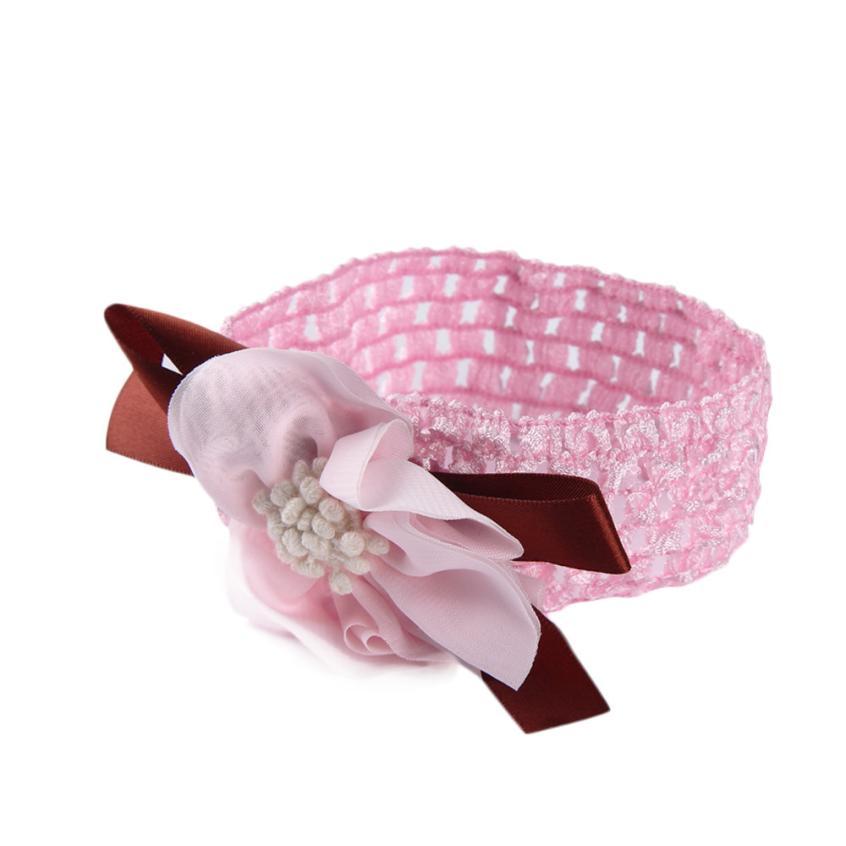 Stylish 1 pcs Lovely Girls Boys Baby Adjustable Headbands Cloth Flower Hair Accessories Infant Hair Band