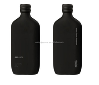 Hotsale frosted black flat 250ml iced coffee tea customer logo glass bottles cold coffee brew glass containers