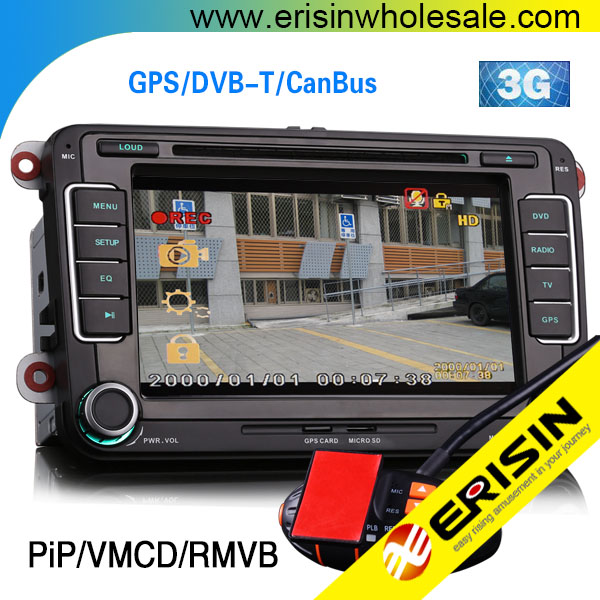 "Erisin ES7698V 7"" Car GPS Radio DVD for GOLF 5 6 PASSAT CC EOS"