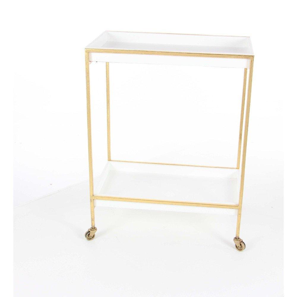 Benzara Metal Accent Tables Bm119195 Benzara Outstanding Metal Wood Tea Cart 24 X 31 X 14 Inches Silver