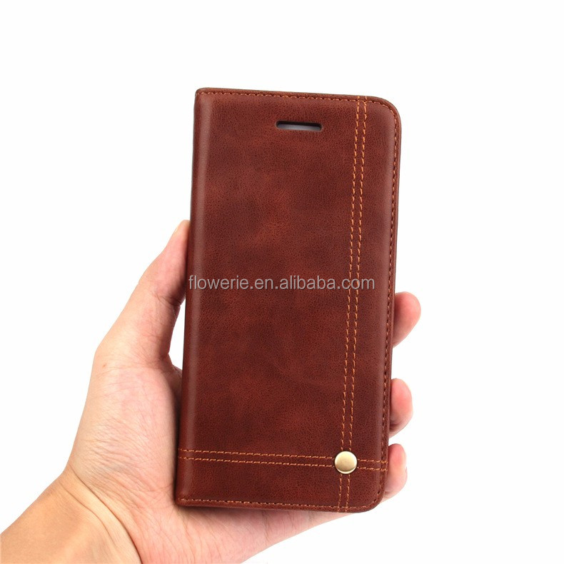FL3696 For iPhone7 7Plus Magnetic Retro PU Leather Wallet Case For iPhone 7 4.7Inch Mobile Phone