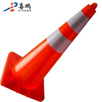 Road Safety Durable Colorful Traffic Signs PVC Traffic Cone With Reflective Sleeves
