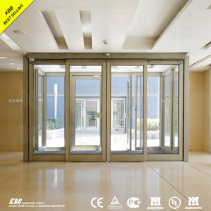 double glass automatic sensor glass sliding door from top china factory with low price with brushless dc motor sensor