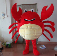 Red Crab Mascot Costume Cosplay Fancy Party Dress Halloween Costumes Adults