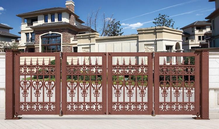 Esterno In Alluminio Decorativa Ingresso Pieghevole Cancello Per Villa Buy Pieghevole Espandibile Cancello Ingresso Casa Retrattile