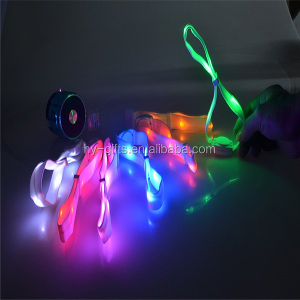 nylon led bracelet custom logo concert led remote bracelet