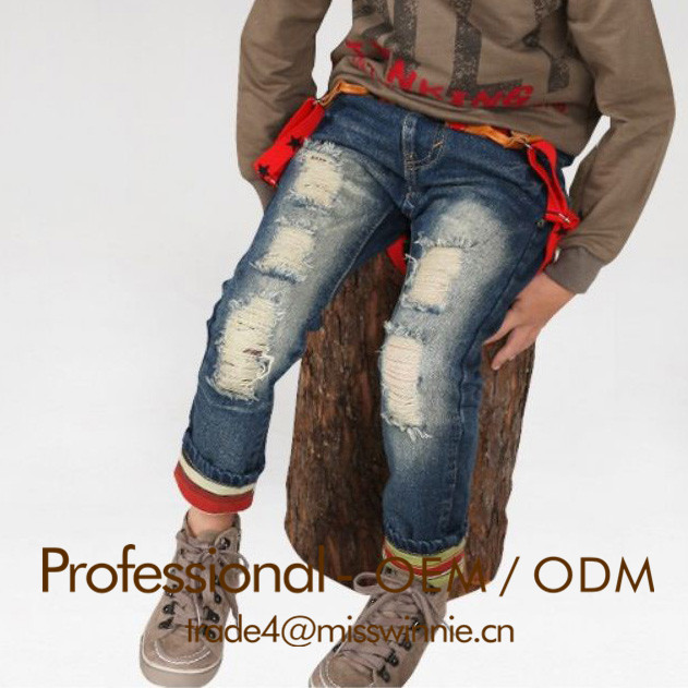 winter warm children jeans in classical clothing jeans,girls and boys jeans