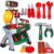 Kids real play tool items toy mechanic tool box set toy