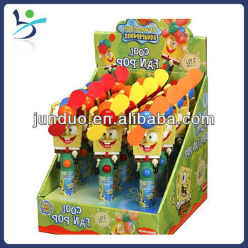 Hot Sale Cartoon Image Candy Toy Fan Push Candy Toy