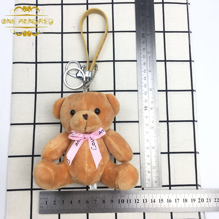 High Quality New Arrival Soft Plush Teddy Bear Keychain