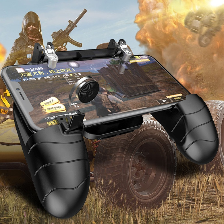 Armzon Hot Sale for Fortnite Gamepad Smart Phone Mobile Game L1R1 Mini Joystick <strong>Controller</strong> for PUBG