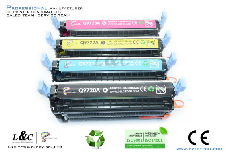 Compatible toner for HP Color laser cartride C9720A 9721A 9722A 9723A
