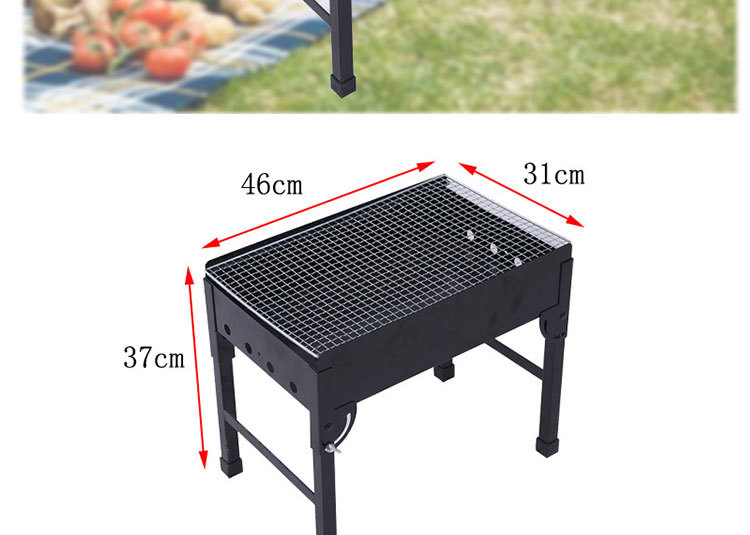 gros portable fer pliage bbq fumeur grille de barbecue id. Black Bedroom Furniture Sets. Home Design Ideas