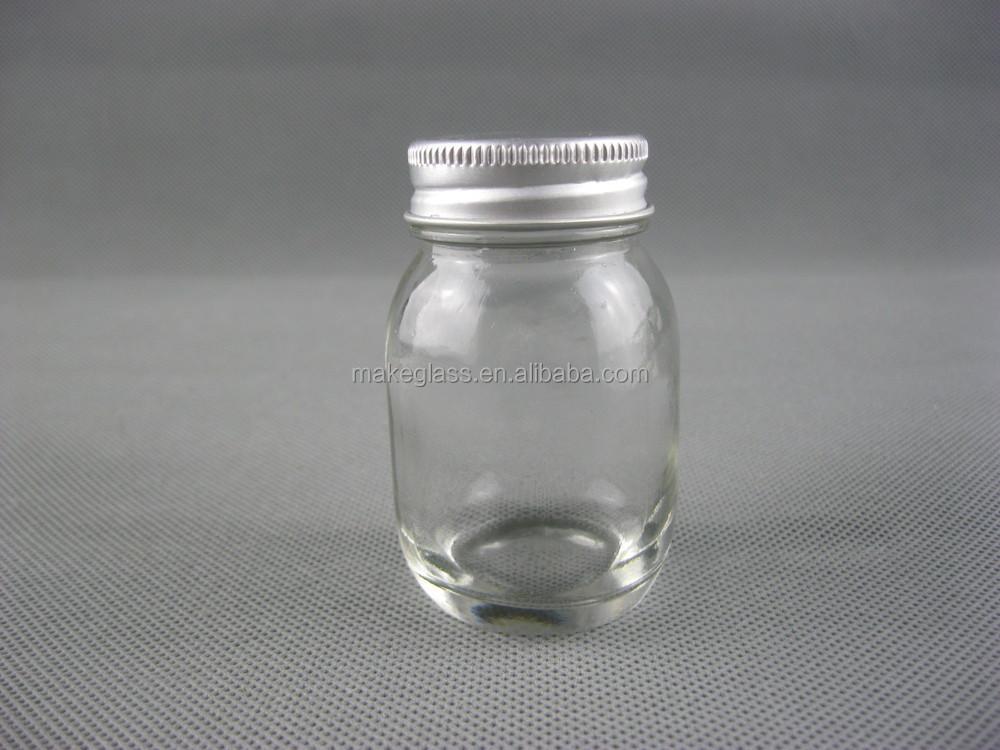 Mini Mason Jarsmini Glass Jars With Metal Lid50ml Glass Bottle
