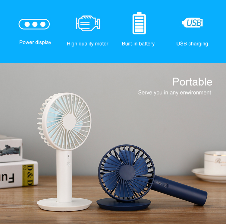 Summer personal custom portable rechargeable table cooler usb hand fan
