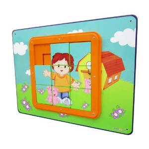I DEPOT PLAY SLIDE PUZZLE- WALL ACTIVITY PANEL FOR TODDLERS IM13