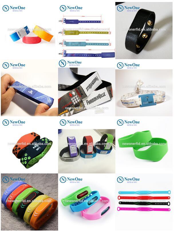 Descartável personalizado 125 khz gravável pulseira printable rfid papel pulseira
