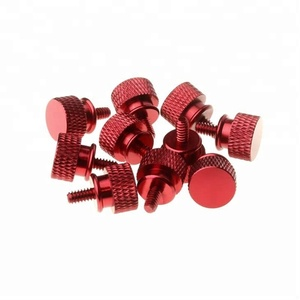 Colored hand tighten screws knurled head thumb screws for pc case