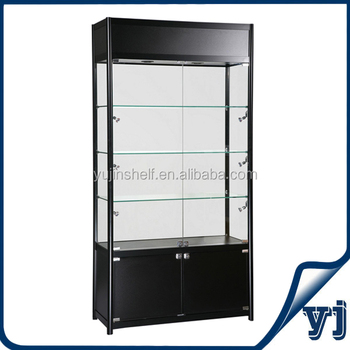 Upright Standing Led Lighting Aluminum Gl Display Case Showcase Cabinet Cabinets
