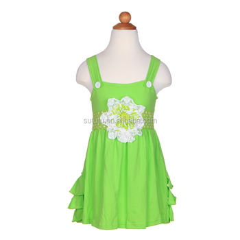 dca7d8365ee0 new brand casual kid dress sleeveless solid color polka dots summer dress  with flower lovely sundress