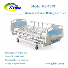 KS-1032 Type Manual 4 functions hospital/medical rolling bed for sale