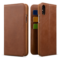 Mobile phone accessories stand wallet leather phone cover case for iPhone X with card holder