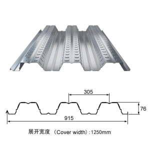 Metal floor decking corrugated steel decking sheet