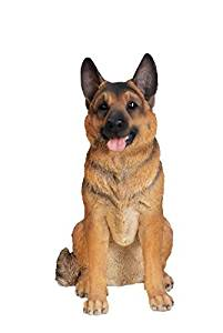Hi Line Gift Ltd. Sitting Dog - German Shepherd - Large