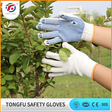 Hot Sale Cheap PVC Dots Coated Cotton Work Gloves/Latex Garden Gloves Supplier CE