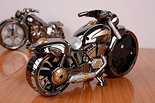 Vintage Mini Motorcycle/Bicycle Model Alarm Clock Battery Powered desk shelf clock Creative Christmas Gifts